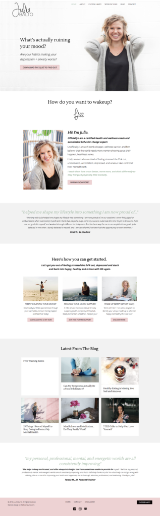 Julia Balto website design