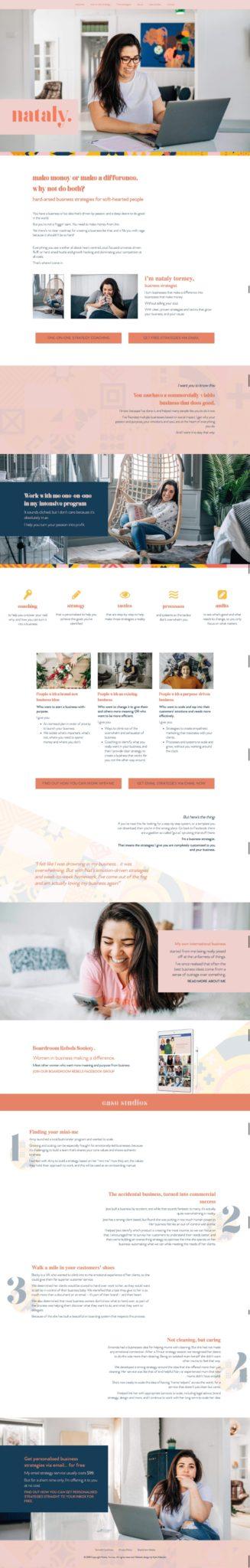 Business strategist website design