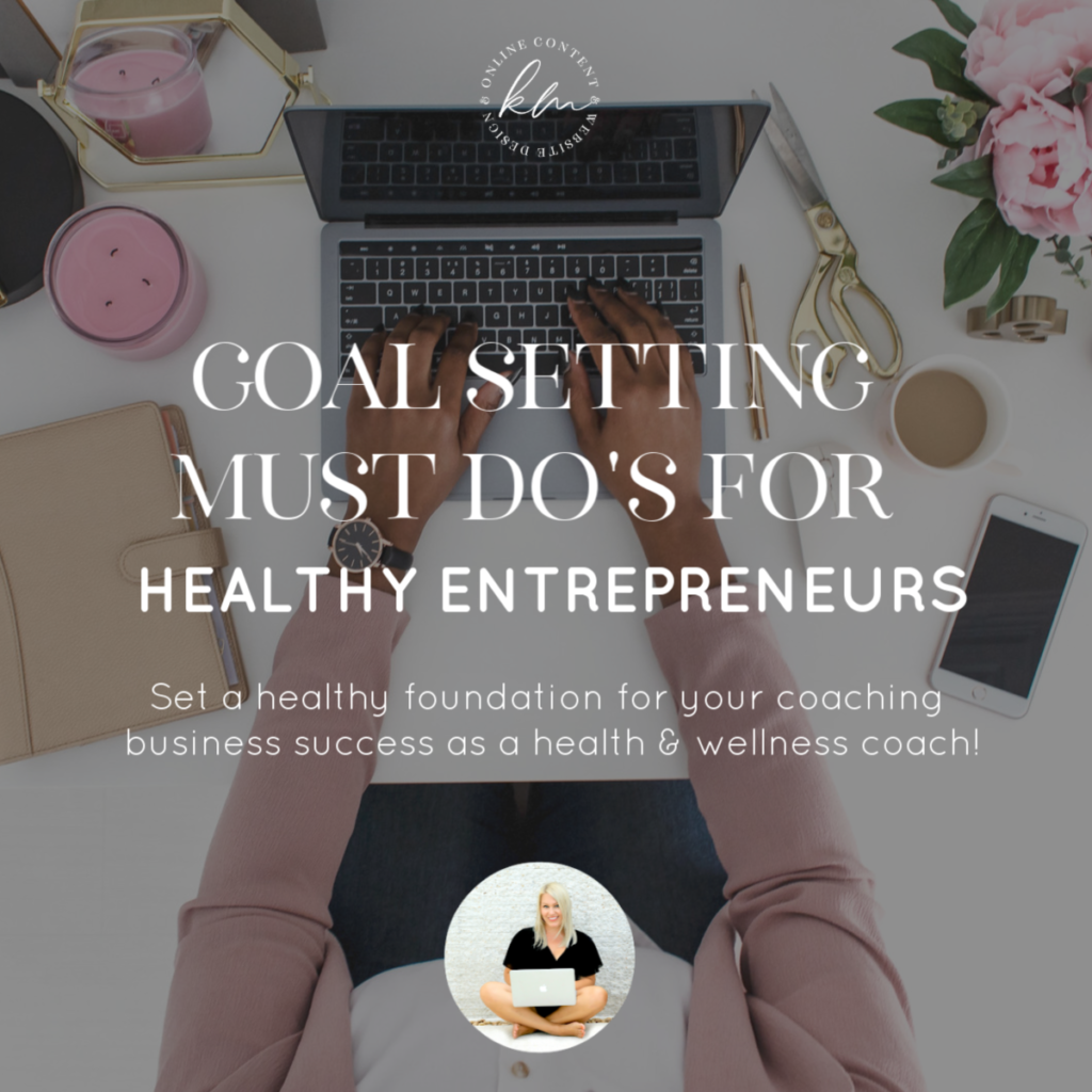 goal setting health coach productive business