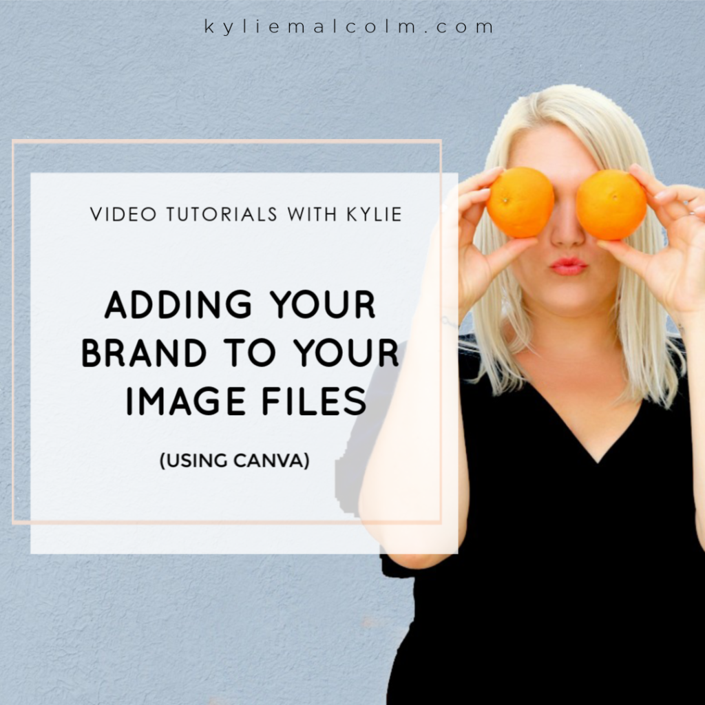 use canva to add brand to images