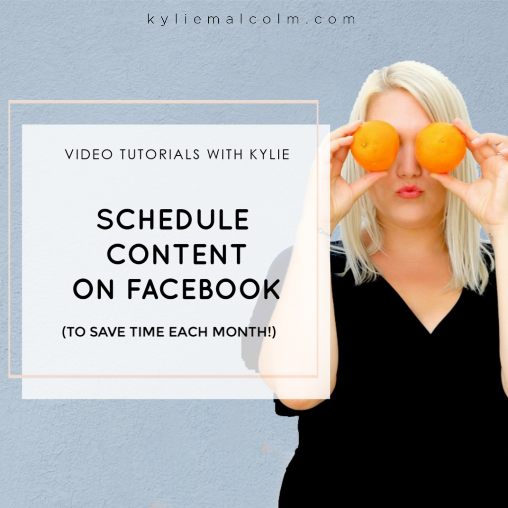 video how to schedule post facebook
