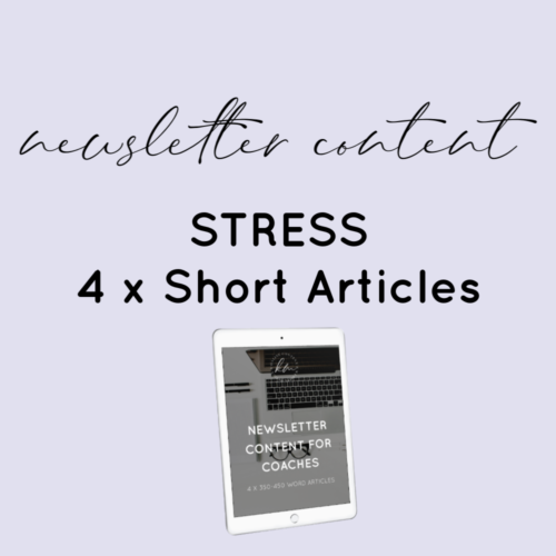stress newsletter plr content