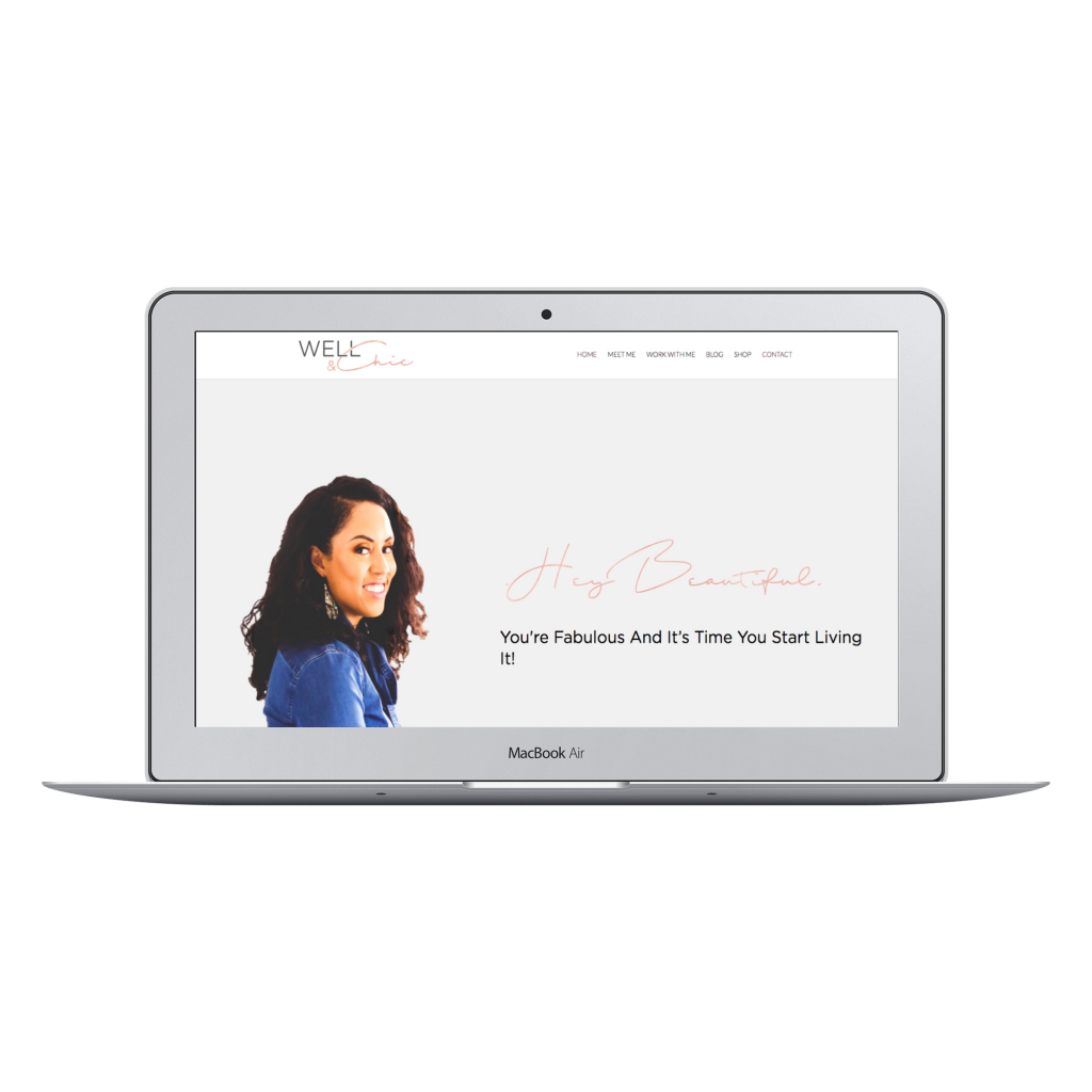 website redesign coaching website well and chic