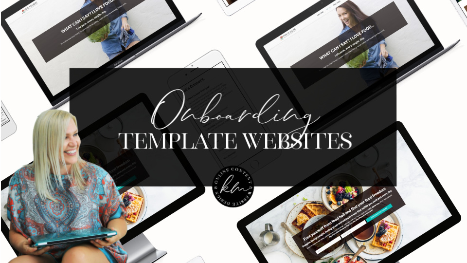 Teachable template website onboarding