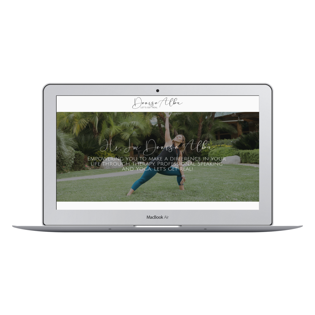 Website Redesign package for coach personal brand