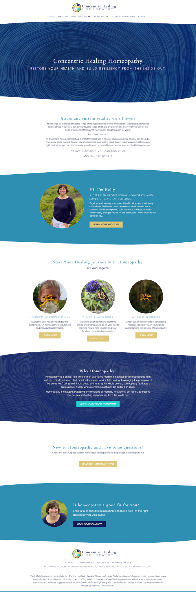 Homeopathy Website Design for Concentric healing