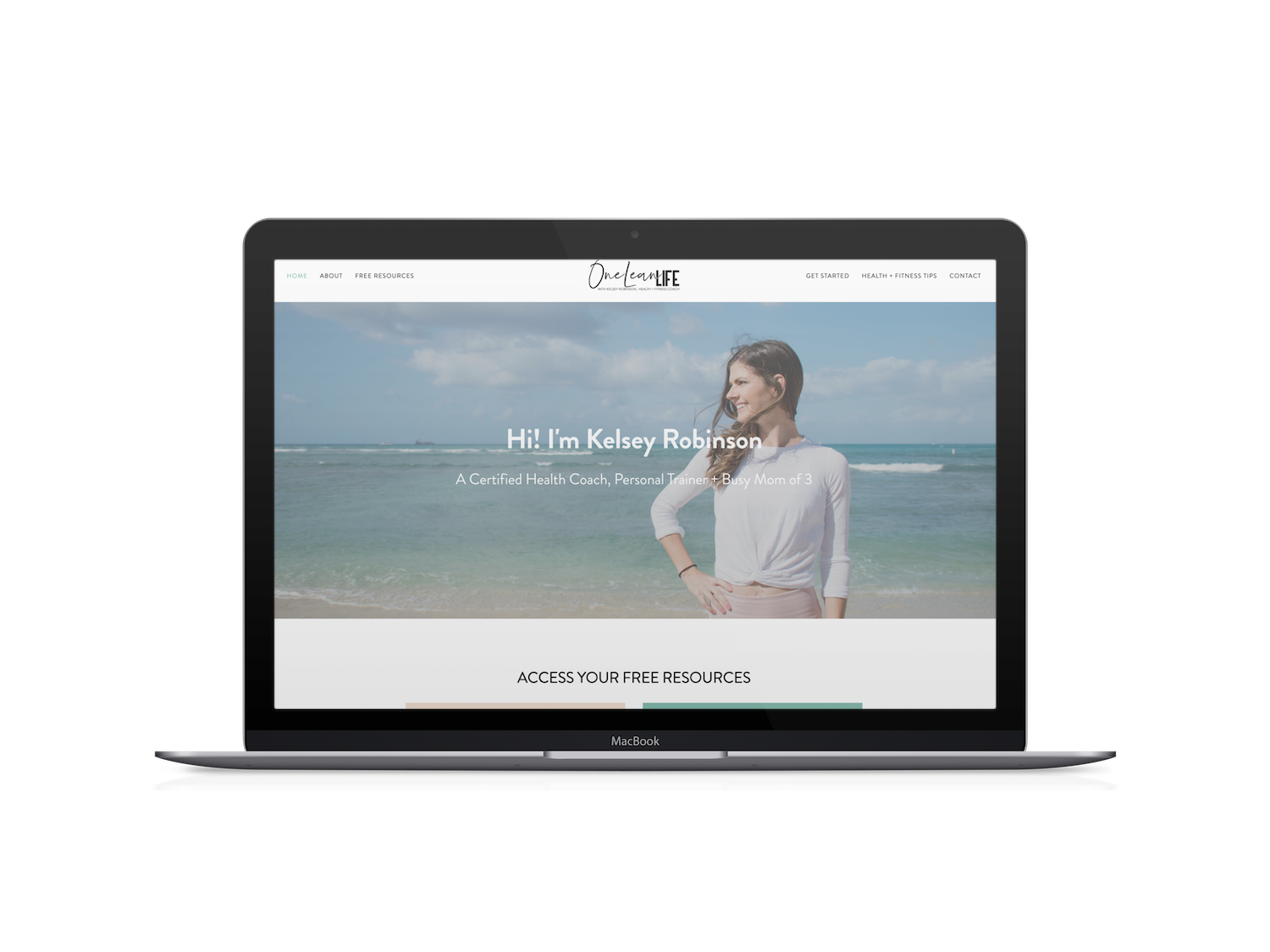 health coach website design one lean life