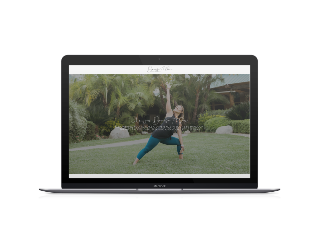 yoga website design template