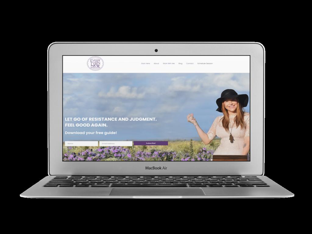 caridad coaching website design examples