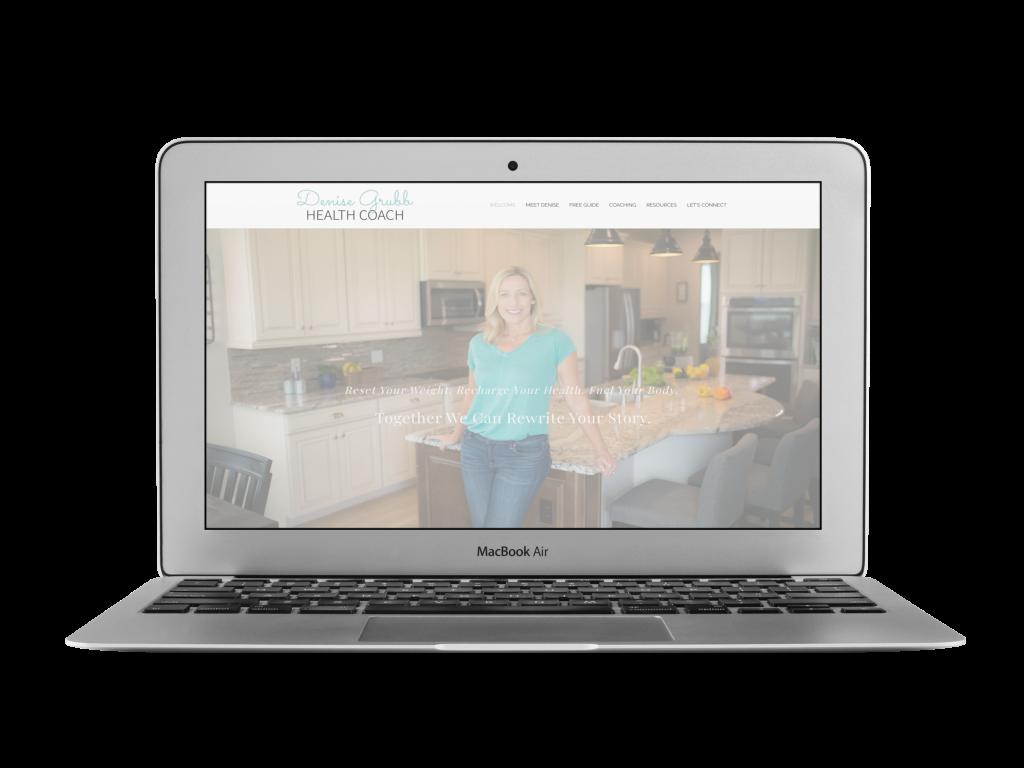 denise coaching website design examples