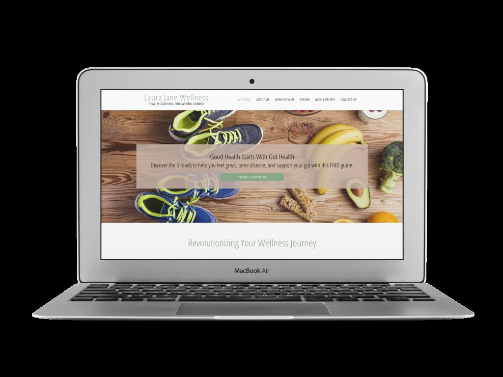 laura coaching website design examples