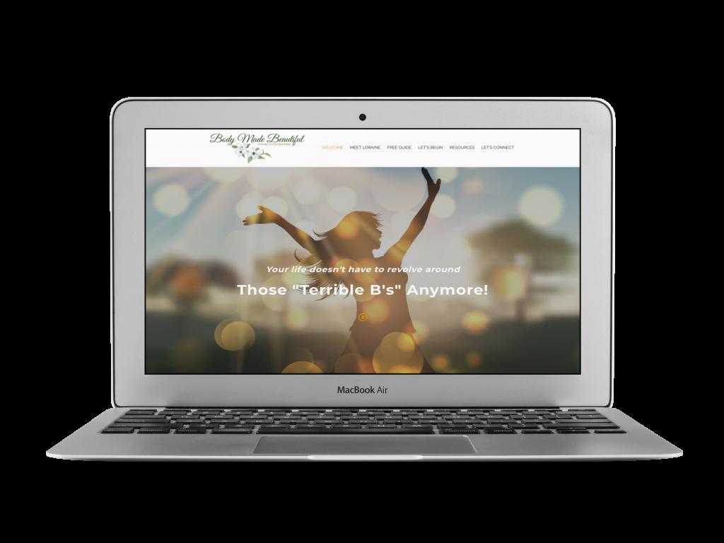 loraine coaching website design examples