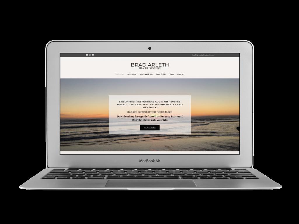 brad coaching website design examples