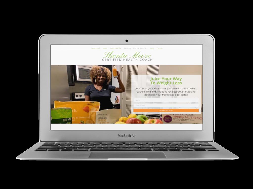 shonta coaching website design examples