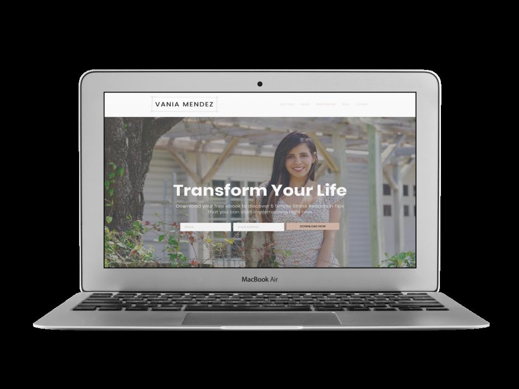 vania coaching website design examples