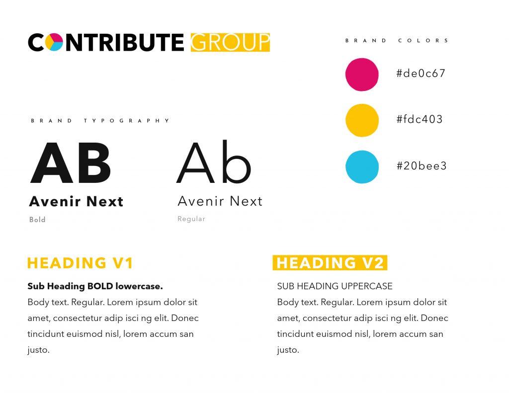 Contribute GRoup Health Platform website design brand