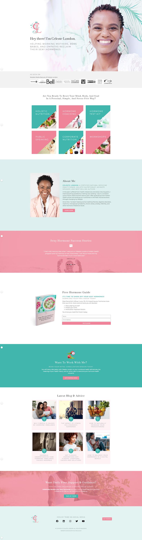 Hormone Nutritionist Website Design for Celeste 2