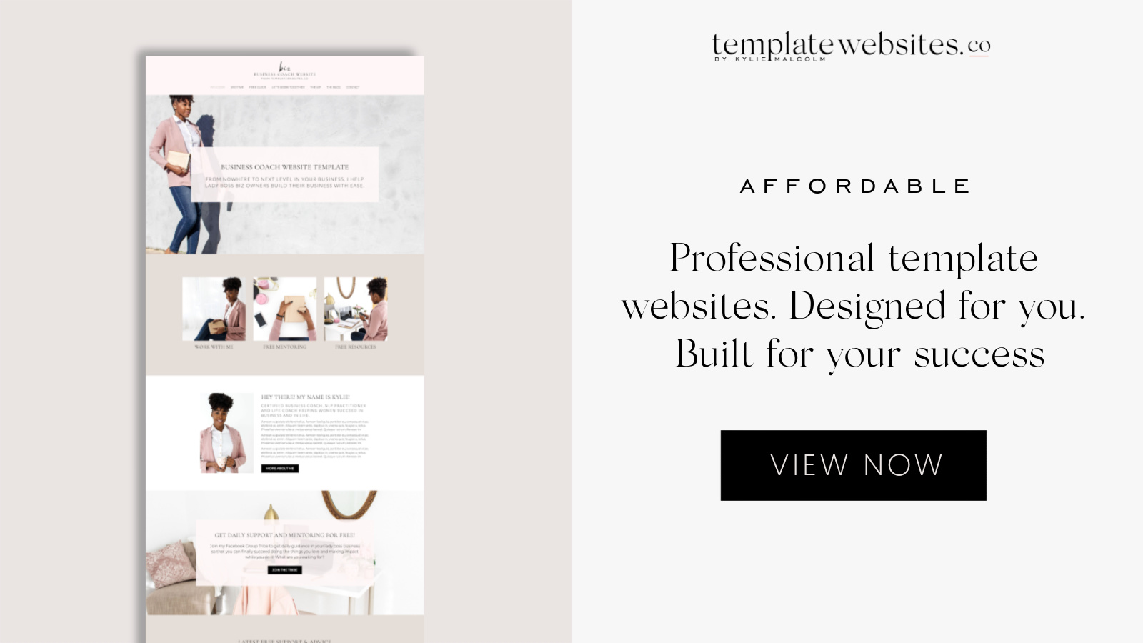 Template Websites for coaches by Kylie malcolm