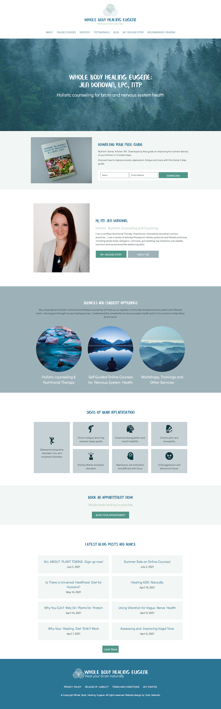 Holistic Counseling website design