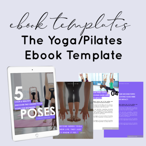 yoga ebook done for you plr template