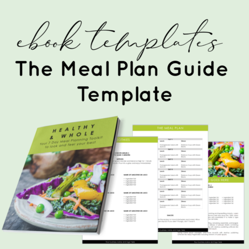 Planner template - meal plan