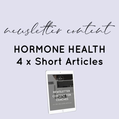 hormone content plr