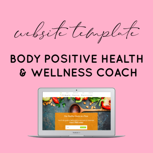 wellness website template